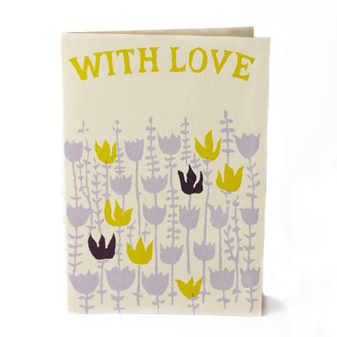 Cambridge Imprint Card With Love Flowers