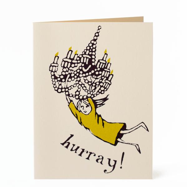 Chandelier Girl Card by Cambridge Imprint