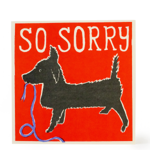 Cambridge Imprint Large Square Card So Sorry Dog