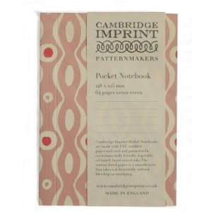 Cambridge Imprint Pocket Notebook Persephone Pink and Raspberry