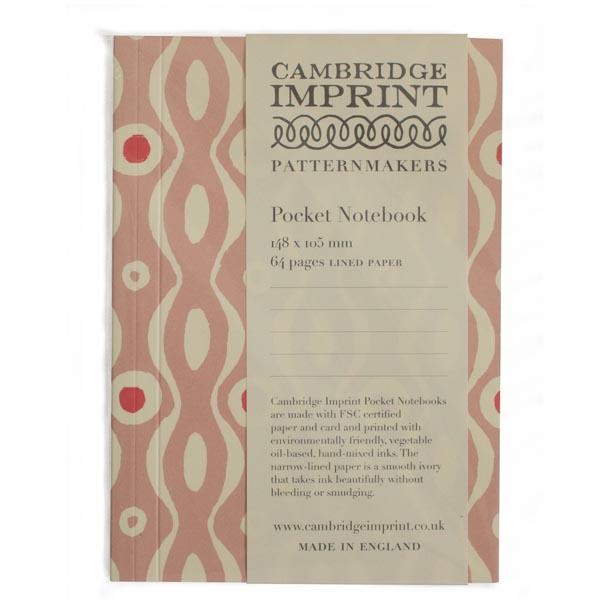 Cambridge Imprint Pocket Notebook Persephone Pink and Raspberry