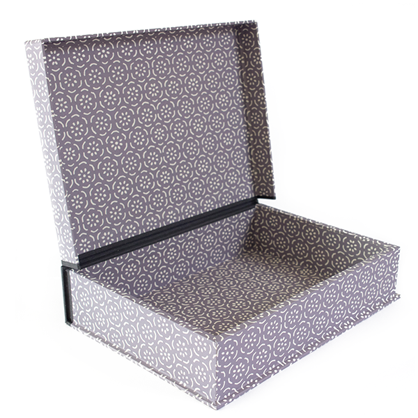 A5 Box File Small Pear Halves Lavender Grey by Cambridge Imprint