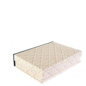 A5 Box File Oak Leaves Pale Pink by Cambridge Imprint