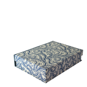 A5 Box File Seaweed Paisley Prussian Blue by Cambridge Imprint