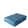 A5 Box File Seaweed Paisley Cyanotype by Cambridge Imprint