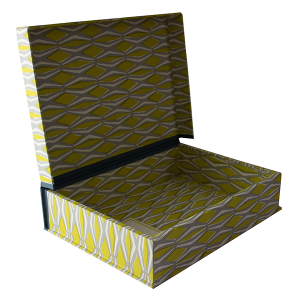 A5 Box File Smocking Acid Yellow and Grey by Cambridge Imprint