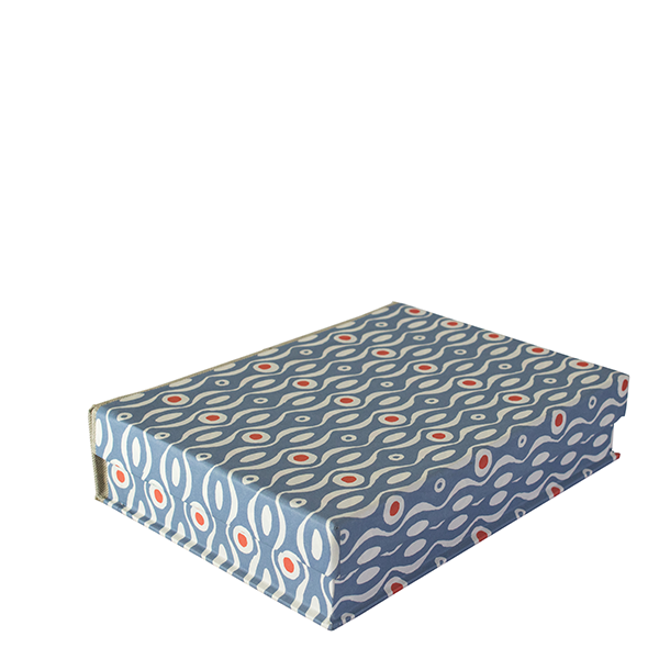 A5 Box File Persephone Cornflower and Red by Cambridge Imprint