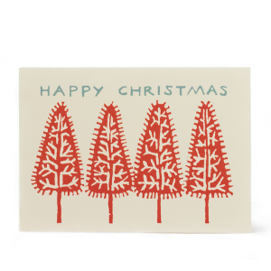 Cambridge Imprint Christmas Trees card