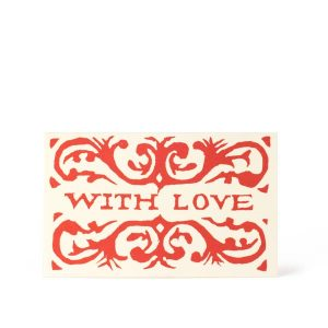 Cambridge Imprint Packet of Six Gift Cards With Love Red