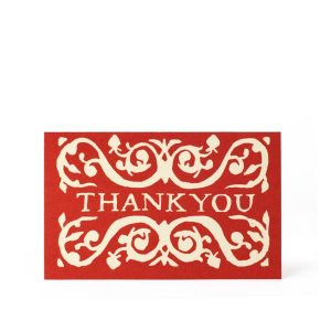 Cambridge Imprint Packet of Six Gift Cards Thank you Red
