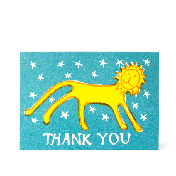 Cambridge Imprint Small Card Thank You Little Lion