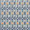 Cambridge Imprint Persephone Patterned Paper in Cornflower and Red