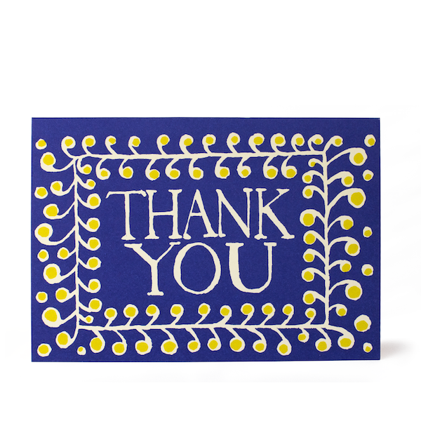 Cambridge Imprint Card Thank You PATTERN Ultramarine