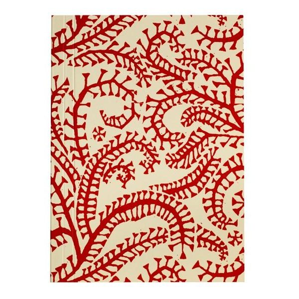 Cambridge Imprint Pocket Notebook in Seaweed Paisley Crimson