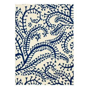 Cambridge Imprint Pocket Notebook in Seaweed Paisley Prussian Blue