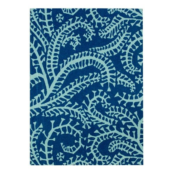 Cambridge Imprint Pocket Notebook in Seaweed Paisley Cyanotype