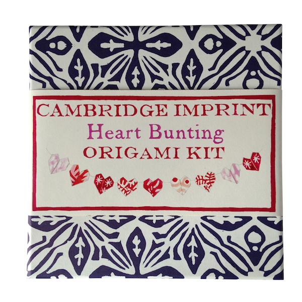 Cambridge Imprint Heart Bunting Origami Kit