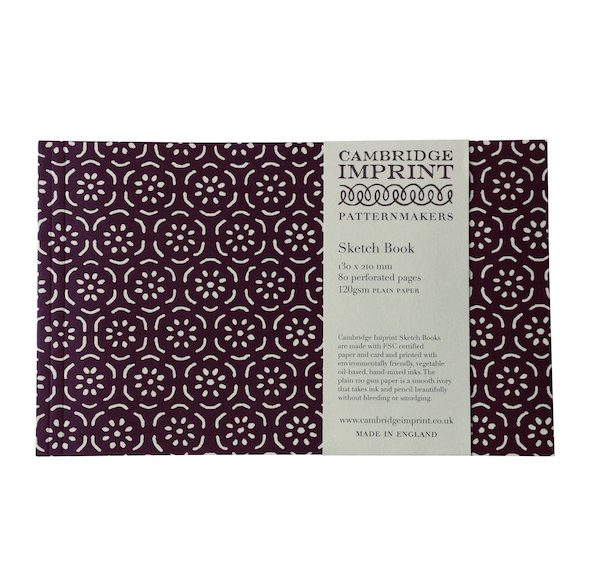Cambridge Imprint Softback Sketchbook in Small Pear Halves Elderberry