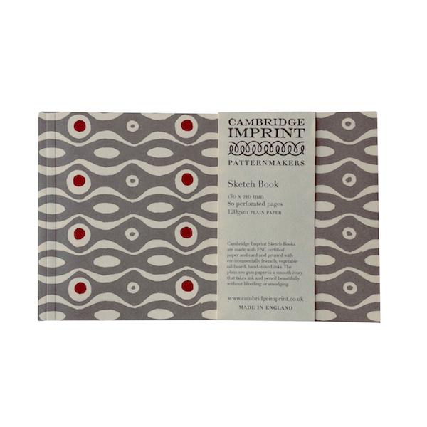 Cambridge Imprint Softback Sketchbook in Persephone Grey and Crimson