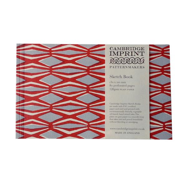 Cambridge Imprint Softback Sketchbook in Smocking Coral and Lavender