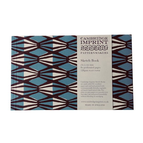 Cambridge Imprint Softback Sketchbook in Threadwork Blue and Coffee