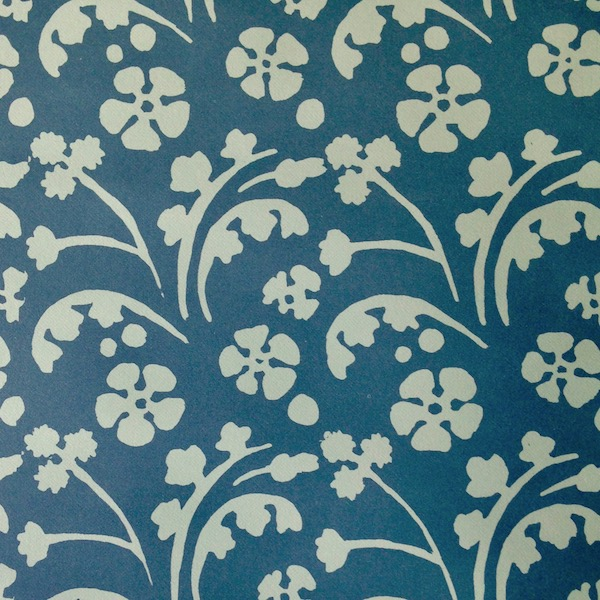 Cambridge Imprint Wild Flowers Patterned Paper in Blue