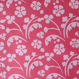 Cambridge Imprint Patterned Paper Wild Flowers Red