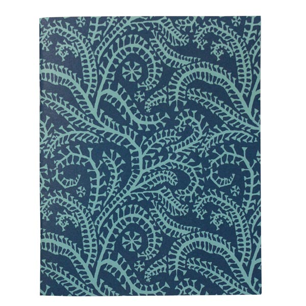 Cambridge Imprint Slim Exercise Book in Seaweed Paisley Cyanotype
