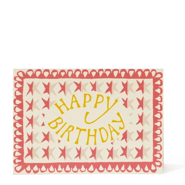 Happy Birthday Stars Card by Cambridge Imprint