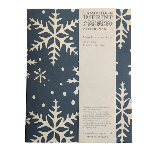 Cambridge Imprint Slim Exercise Book in Snowflake