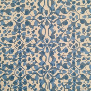 Cambridge Imprint Dappled Patterned Paper in Blue