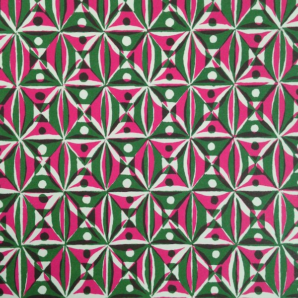 Cambridge Imprint Kaleidoscope Patterned Paper in Pink and Green