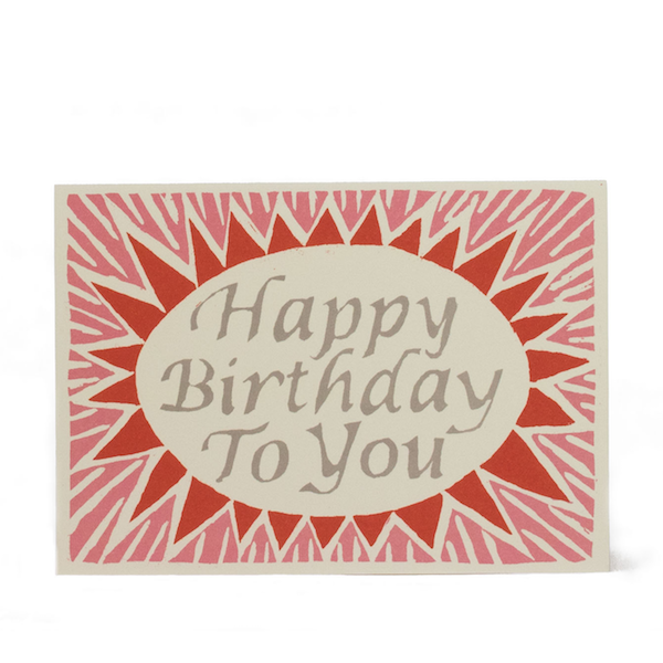 Happy Birthday To You in Pink and Red by Cambridge Imprint