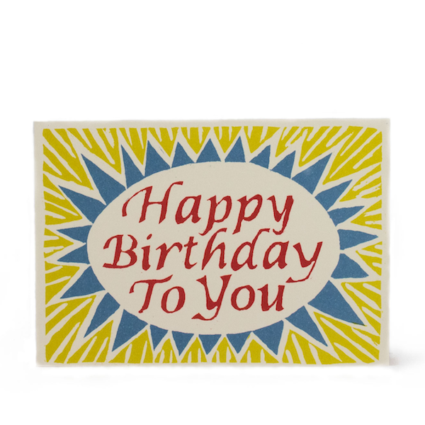 Happy Birthday To You in Red, Yellow and Blue by Cambridge Imprint