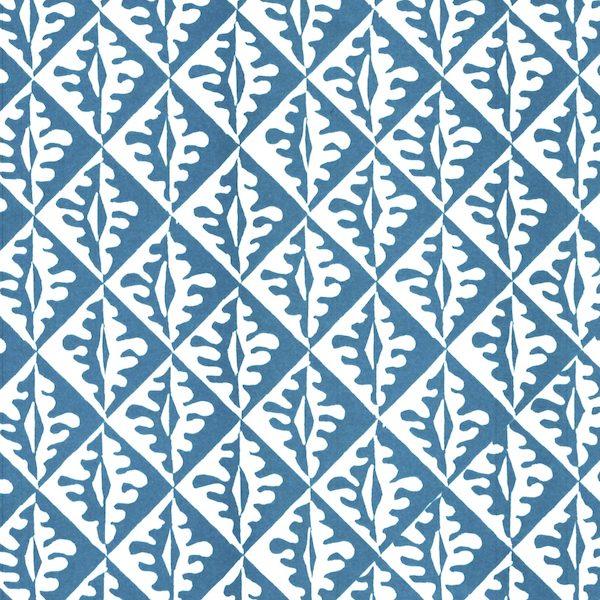 Cambridge Imprint Oak Leaves Patterned Paper in Bright Blue