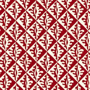 Cambridge Imprint Oak Leaves Patterned Paper in Red