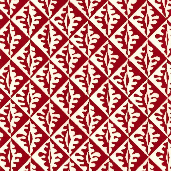 Cambridge Imprint Oak Leaves Patterned Paper in Red