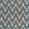 Cambridge Imprint Threadwork Patterned Paper in Blue and Coffee
