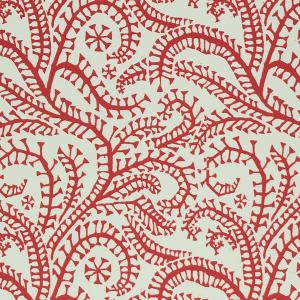 Cambridge Imprint Seaweed Paisley Patterned Paper in Crimson