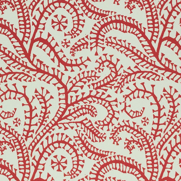 Cambridge Imprint Seaweed Paisley Patterned Paper in Crimson