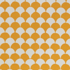 Cambridge Imprint Clamshell Patterned Paper in Transparent Orange