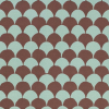 Cambridge Imprint Clamshell Patterned Paper in Teal and Chocolate