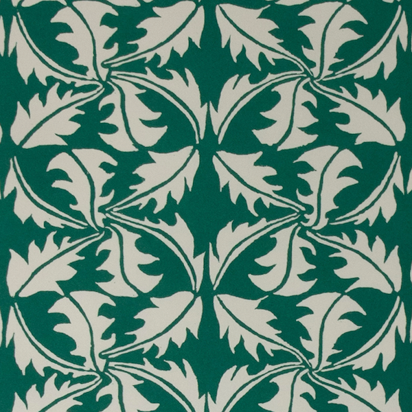 Cambridge Imprint Dandelion Patterned Paper in Bottle Green
