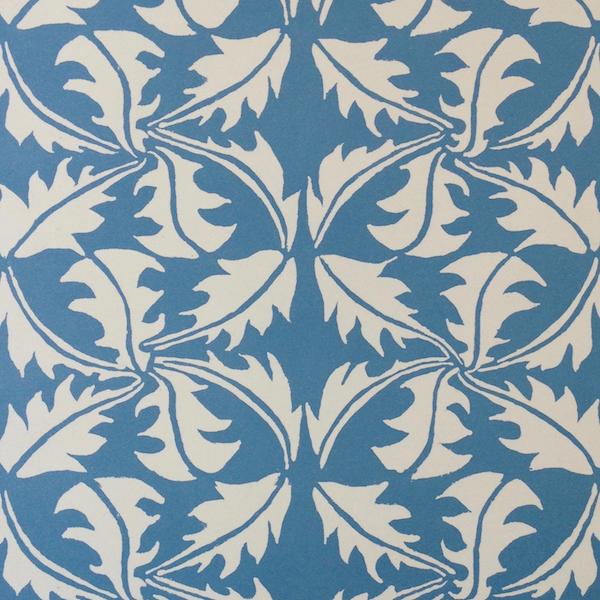 Cambridge Imprint Dandelion Patterned Paper in Blue