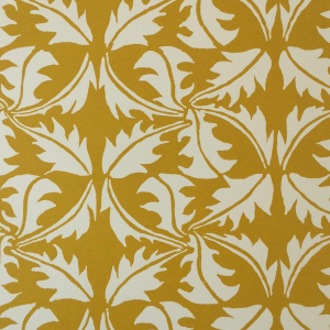 Cambridge Imprint Dandelion Patterned Paper in Turmeric