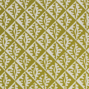 Cambridge Imprint Oak Leaves Patterned Paper in Sap Green