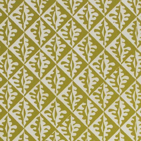 Cambridge Imprint Oak Leaves Patterned Paper in Sap Green