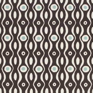 Cambridge Imprint Patterned Paper Persephone in Charcoal and Pale Blue