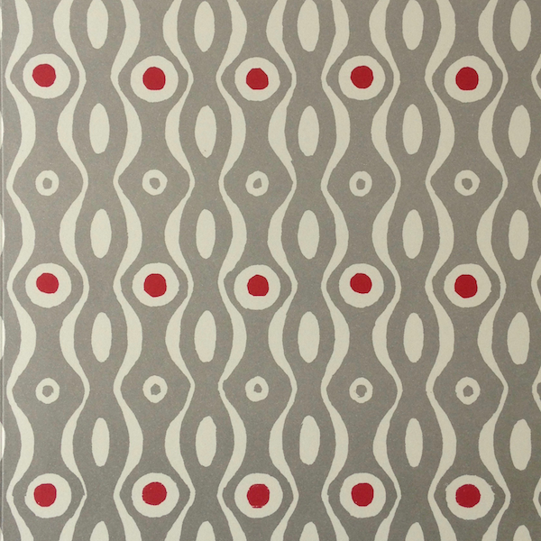Cambridge Imprint Persephone Patterned Paper Grey and Crimson