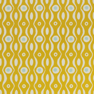 Cambridge Imprint Patterned Paper Persephone Mustard and Pale Turquoise